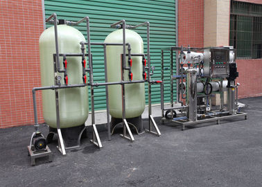 FRP 3000LPH Drinking Water Treatment Plant / Reverse Osmosis Water System With UV Sterilizer